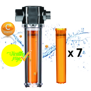 product moolmang vitafersh advanced shower filter original chrome model with vitamin c advanced replacement filter 7 pc